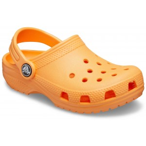 Șlapi Crocs Classic Clog K Cantaloupe