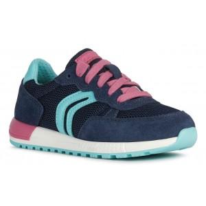 Sneakers Geox J Alben GB Navy Fuchsia