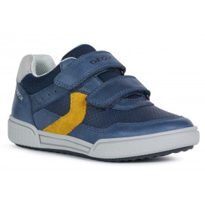 Sneakers Geox J Poseido BA Navy Yellow