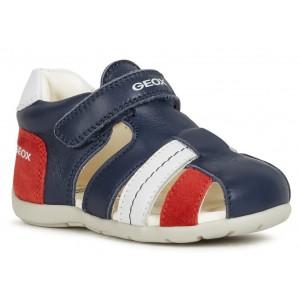 Sandale Geox B Kaytan BB Navy Red