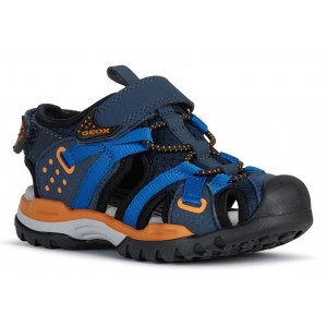 Sandale Geox J Borealis BB Navy Orange
