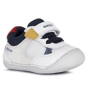 Pantofi Geox B Tutim White Suede Mesh