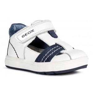 Sandale Geox Biglia Boy White Dark Blue