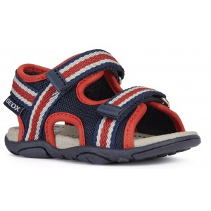 Sandale Geox B Agasim Boy Navy Red