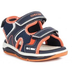 Sandale Geox B Todo Boy Navy Orange Fluo