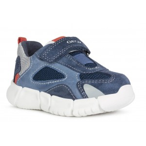 Sneakers Geox B Flexyper Boy Navy Red