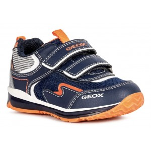 Sneakers Geox B Todo Boy Navy Fluo Orange