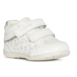 Sneakers Geox B Elthan Girl White Silver