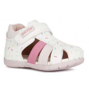 Sandale Geox B Elthan Girl Light White Pink
