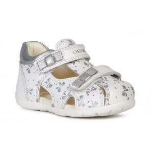 Sandale Geox B Kaytan White Silver
