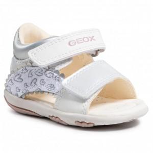 Sandale Geox B Sandal Nicely White Silver