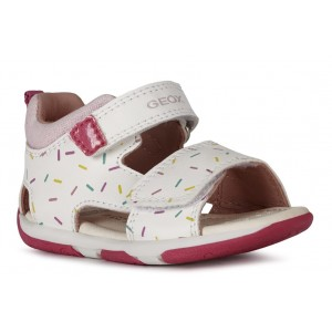 Sandale Geox Baby Tapuz Girl White Pink