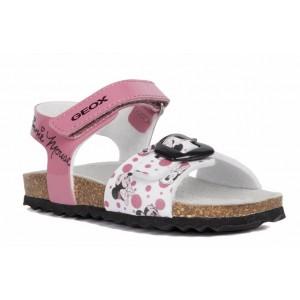Sandale Geox B Chalki Girl Fuchsia White