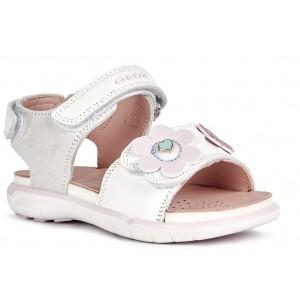 Sandale Geox B Sandal Dehli Girl White