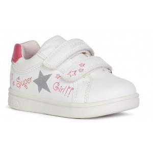 Sneakers Geox B Djrock Girl White Fuchsia