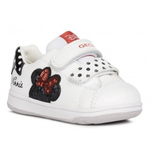 Sneakers Geox B New Flick Girl White Black