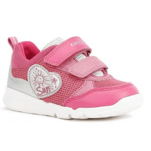 Sneakers Geox B Runner Girl Fuchsia Silver