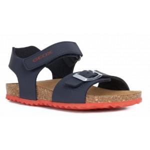 Sandale Geox J Ghita Boy Navy Red