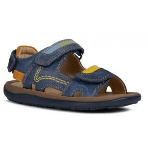 Sandale Geox J Lipari Boy Navy Yellow