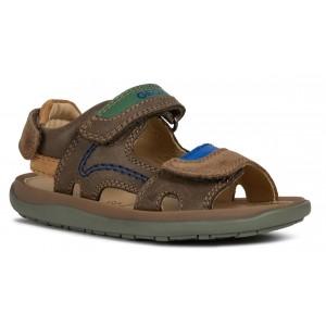 Sandale Geox J Lipari Boy Brown Royal