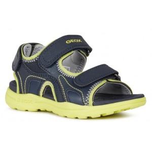 Sandale Geox J Vaniett Boy Navy Lime