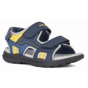 Sandale Geox J Vaniett Boy Navy Yellow