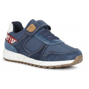 Sneakers Geox J Alben Boy Navy Red