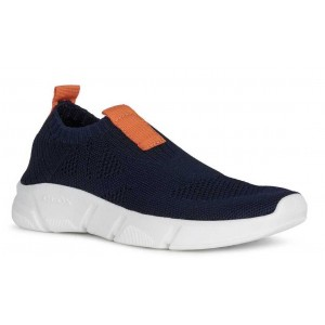 Sneakers Geox J Aril Boy Navy Orange