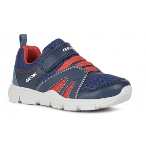 Sneakers Geox J New Torque Boy Navy Red