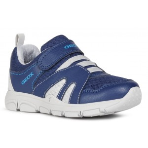 Sneakers Geox J New Torque Boy Navy Light Grey