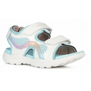 Sandale Geox J Vaniett Girl White Aqua