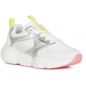 Sneakers Geox J Bubblex Girl White Silver
