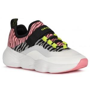 Sneakers Geox J Bubblex Girl White Fuchsia