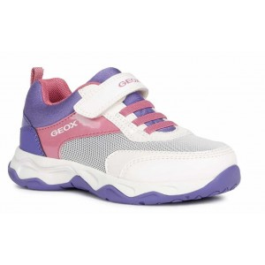 Sneakers Geox J Calco Girl White Fuchsia