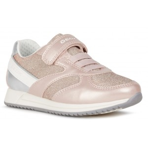 Sneakers Geox J Jensea Girl Rose White