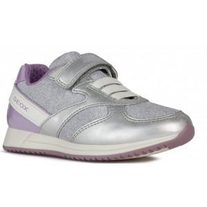 Sneakers Geox J Jeansea Girl Silver Lilac