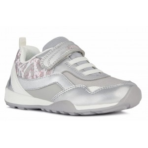 Sneakers Geox J Jocker Plus Girl Silver White