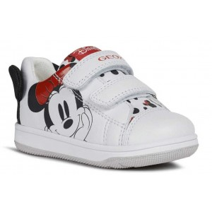 Pantofi Geox New Flick Girl GB White