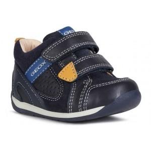 Pantofi Geox B Each Boy Nappa Suede Dk Navy