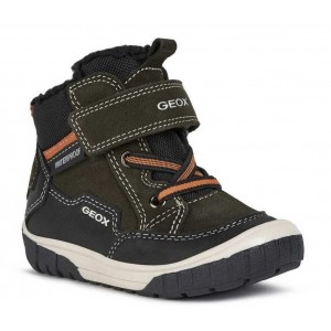Ghete de zăpadă Geox Omar Boy Green Black