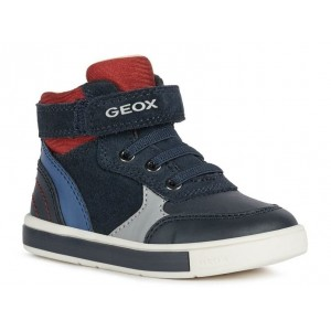 Ghete Geox B Trottola Boy Navy Red