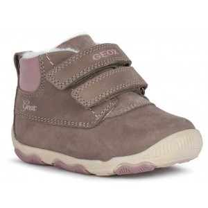 Ghete Geox B New Balu Girl Smoke Grey