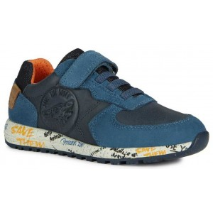 Sneakers Geox J Alben Boy Navy Orange