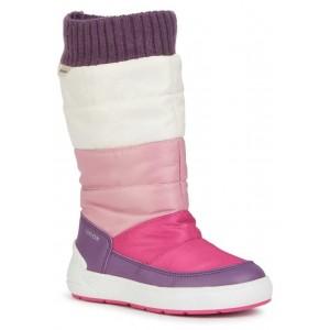 Cizme de zapadă Geox J Sleigh Girl ABX Pink Mauve