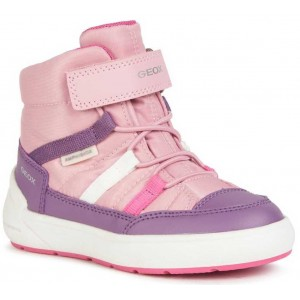Ghete de zapadă Geox J Sleigh Girl B Abx Pink Mauve
