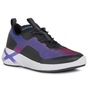 Sneakers Geox J Playkix Girl J04BMA 0AS54 C8277 Violet Black