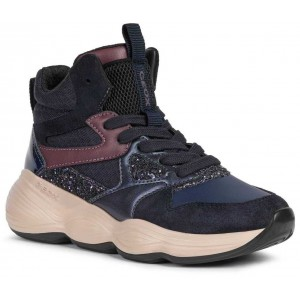 Sneakers Geox J Bubblex Girl Navy Prune