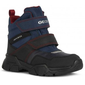 Cizme de zapadă Geox J Nevegal Boy B Abx C Navy Dark Red