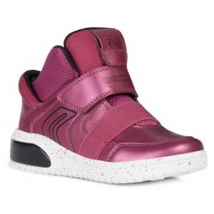 Sneakers Geox J Xled GA Fuchsia Black