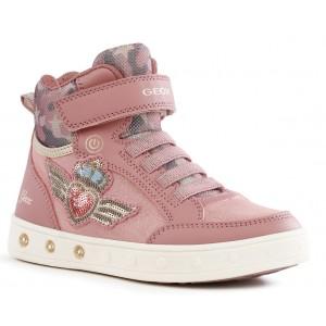 Sneakers Geox J Skylin G. B J168WB 0HS54 C8006 Dk Pink